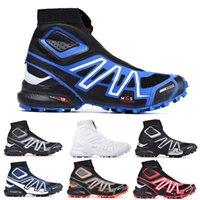 Respiración Snowcross 2 CS Color Colorido Trail Invierno Botas de nieve Blanco Volt negro azul rojo Calcetín rojo Chaussures para hombre Entrenadores de invierno Zapatos de bota de nieve 40-47