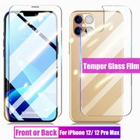 Temperli Cam Film Protector iPhone X XS XR 11 12 Mini Pro Max Ön + Arka Arka Ekran Anti-Paramparça Fullody Koruyucu Kapak