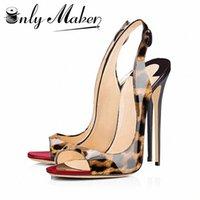 Andermaker мода женщин тонкие высокие каблуки насосы сандалии золотые дамы летняя обувь 12см каблуки открытые модные туфли плюс размер 15 z2yv #