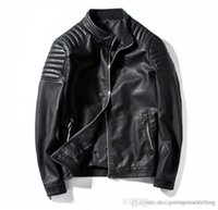 Color Jackets Slim Casual Outerwear High Quality Mens Apparel Luxury PU Leather Jackets Mens Designer Coats Autumn Solid