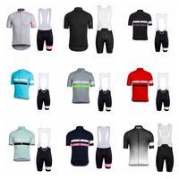 Rapha Cycling Manica corta Jersey Bib Shorts Set Summer Uomo Sport sportswear all'aperto Abbigliamento da corsa traspirante Abbigliamento da corsa Y21032205