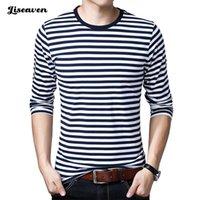 T-shirt dos homens de Liseaven Moda de verão de algodão de mangas compridas O-pescoço camisetas 2021 Camisetas Plus Size 5XL Men Roupas T-shirts