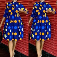 Casual Dresses 3XL Plus Size African For Women Spring Autumn Dashiki Midi Dress Bazin Riche Clothing Long Sleeve Africa Clothes