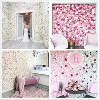 40x60cm Silk Rose Flower Wall Artificial Flowers DIY Wedding Wall Decor Photography Backdrops Baby Shower Background