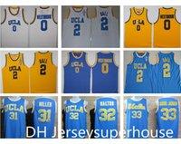 UCLA Bruins Koleji Basketbol Russell Westbrook Lonzo Topu Zach Lavine Kareem Abdul Jabbar Reggie Miller Bill Walton Kevin Aşk Blue Jersey