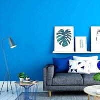 بلون خلفية خلفية خلفية غرفة المعيشة الحديثة بسيطة عادي المحيط البحر الأبيض المتوسط نمط غرفة الأطفال الأزرق wallpape Q0723