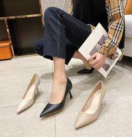 # 654 Mujeres de vestir zapatas bombas de oficina de alta calidad tacones bajos sandalias puntiagudo apuntado de tacones de tacón alto fiesta de boda primavera sexy zapato de señora