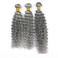 Reine graue peruanische menschliche haare verlängerung 3 stücke tiefe welle doppelfäden jungfräulich peruanian silber grau menschliche haare webart bündel tiefe wellig
