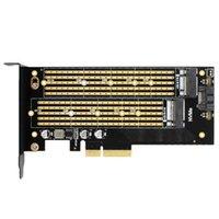 Веб-камеры -jeyi SK7 Server M.2 NVME SSD NGFF SATA на PCIE3.0 x4 4x адаптер M Ключ B Двойная карточка PCI-E3.0 Напряжение 12 В + 3.3В U. U.