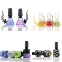 18mm ARRIVAL 14mm Glass Bowls for bong Smoking Accessories various styles head bowl Joint Size 14 male