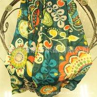 Écharpe en soie imprimée de style National Style Sun, Silky et Soft 30d Soie Soie Soie