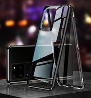 360 아이폰 12에 대한 자기 흡착 금속 케이스 12 미니 11 Pro XR X XS 최대 양면 유리 덮개 삼성