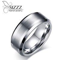 Обручальные кольца Sizzz 8 мм шириной 16,7 г вес вольфрама ручной работы кольцо европейских и американских ювелирных изделий оптом для мужчин