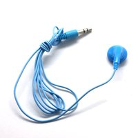 disposable mono Unilateral earphones 3.5mm Candy colors 80cm MP3 headphone
