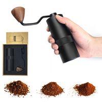 Molinillo de café manual con ajustable Ajuste de acero inoxidable Molino cónico con espresso, Prensa francesa Máquina de fresado portátil XBJK2103