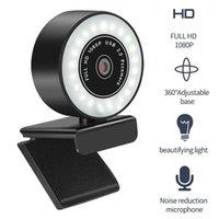 Webcams 5MP / 2 K / 1080 P HD Web Kamerası Mikrofon Ile LED Web Kamera Bilgisayar PC Video Kayıt Otomatik Odak Ayarlanabilir Taban Cam USB
