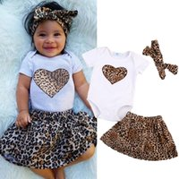Clothing Sets Born Infant Baby Girl Tops Leopard Skirt Dress 3Pcs Outfits Clothes Set