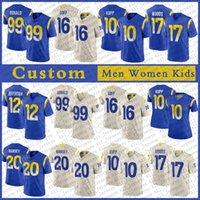 9 Matthew Stafford La Custom Men Women Kids Football Jersey 99 Aaron Donald 10 Cooper Kupp 17 Robert Woods 16 Jared Goff 23 Cam Akers 20 Jalen Ramsey 19 Bortles Jackson