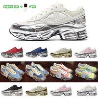 [Caixa original + Meias + Tag]adidas X Raf Simons Ozweego Cream White Silver Metallic joint casual sneakers