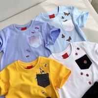 Design Vêtements pour enfants Set Summer Insecte Bébé Enfants Vêtements Mignon Mini-Set! 100% coton tissu, mode doux respirant couleur violet, bleu clair, jaune, blanc