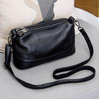 Genuine Leather Messenger Bag Women's Luxury Handbags Fashion Crossbody Shoulder Bags for Women Female Totes