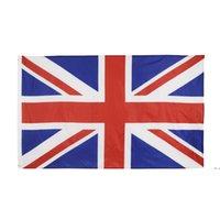 Alta qualità 90 * 150 cm 3 * 5ft 100% Poliestere Union Jack Regno Unito Regno Unito Bandiera HWB5808