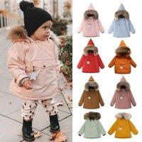 Down Coat Miniture Kids Winter Clothes Boys Jackets Hoodie Warm Born Baby Girls Fur Coats Cotton Star Outwear Tops Bubble