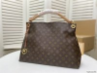 M40249 Натуральная кожаная сумка Bag Artsy MM Крем Дариер Azur Ручная сумка Большой Дариер Азур Плеча Степень Кожаная Сумочка Размер: 46 * 32 * 24см