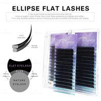 Matte Ellipse Flat Eyelash Extension Soft Tips Light Weight Lash Individual Mink Extension1
