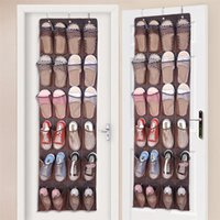 Storage Boxes & Bins 24 Pocket Shoe Hanger Door Hanging Space Organizer Rack Non-woven Wall Bag Closet Holder