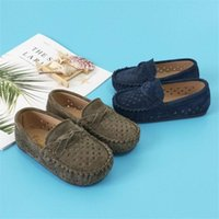 Flat Shoes Boys Girls Moccasins Soft Kids Loafers Children Flats Casual Boat Children's Wedding Leather Autumn Fashion