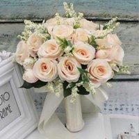 Свадебный букет ручной работы искусственный цветок роза Buque Casamento Bridal букет для украшения свадьбы Ramos de Novia X0726