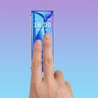 Original Ulcool V99 Teléfono celular de lujo Desbloqueado Super Mini Ultrathin Card Mobilephone MP3 Bluetooth 1.67 pulgadas DUAL SIM Polvo a prueba de polvo GSM Cellbos móviles Caja gratis