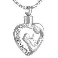 Pendant Necklaces CMJ9125 Keepsake Cremation Jewelry Urn Charm Necklace Memory Ashes Memorial Keychain Charms For Family