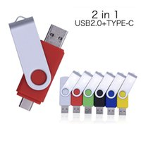 360 Rotate OTG USB Flash drives cle 64G USB 2.0 Smart Phone pen drive 8g 16g 32g 128g micro memory storage devices U disk