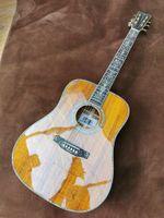 Tutta la chitarra acustica folk fingerstyle in legno di acacia