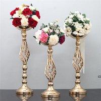 Vela de vela de casamento vaso vaso estande flor rack de estrada chumbo casamento peça candlestick casamento decoração DHB10591