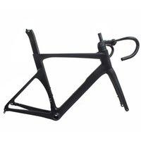 Bisiklet Çerçeveleri Aero Tam Karbon Yolu UD Siyah Mat 50/52/54 / 56/58 CM Disk Fren