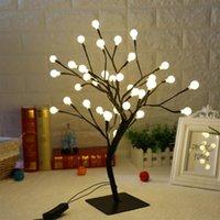 Cuerdas 36 LEDS Luz de bola Bonsai Árbol Hada Noche Mesa Twig Lámpara Home Shop Festival Fiesta Decoración de la boda Adornos de regalo