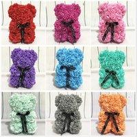 Rosas Teddy Bear Artificial Sabonete Flores para Mães Presente Namorada Aniversário Natal Dia dos Namorados Aniversário presente para festa de casamento WLL555