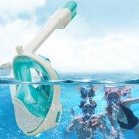 Subaquático Mergulho Anti Nevoeiro Full Face Mergulho Snorkels Mask Snorkeling Máscaras Respiratórias Seguras Equipamentos impermeáveis de Natação para a Juventude Adult
