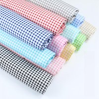 50*160cm 3mm Lattice 10 Colors Printed 100% Cotton Fabric Meters For Dresses Cushions Blanket Sewing Cloth Bed Sheet Textile D30