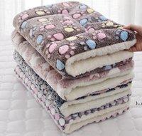كلب لينة الصوف وسادة pets بطانية السرير حصيرة الفانيلا سميكة ل جرو القط أريكة وسادة المنزل سجادة الاستمرار غطاء النوم الدافئ owe5331