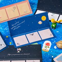 60 Blätter / Packung selbstklebrige Anmerkungen Blume Der kleine Prinz Self-Stick Notizbücher Niedliche bunte Memo Gepostet Schreibkissen