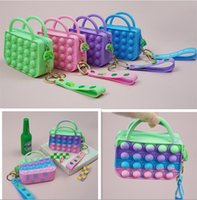 Party Fidget Bubble Chain Bag Cute Lady Handbag Purses Kids Boy Girls Novel Cool Design Crossbody Fanny Pack Push Sensory Puzzle Toys Early Leaning Education