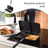 Pans Gas Non-Stick Sandwich Maker Iron Bread Toast Breakfast Machine Waffle Pancake Baking Barbecue Oven Mold Grill Frying Pan