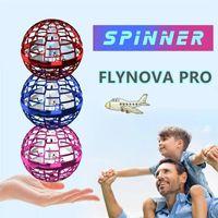 flynova 프로 비행 공 LED 장난감 미니 헬리콥터 UFO Flyorb 부메랑 스피너 핸드 유도 운영 무인 항공기 선물 성인 어린이 장난감