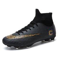 Futebol masculino e feminino 474849 Couro alto Couro Longa Cola Quebrada Prego Flat Bottom Grande Jovem Esportes Sapatos Uhfa