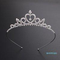 Niños Mujeres Chicas Horquillas Princesa Crown Silver Crystal Hair Hoop Jewelry Bridal Tiara Party Pageant Diamond Headband Accesorios