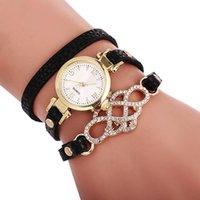 Orologio da polso in pelle natale in pelle naturale in pelle avvolgente per orologio da polso Elegance per orologio da donna cinturino lungo cinturino in oro orologi